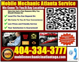 Mobile Mechanic StoneMountain Georgia auto car repair service