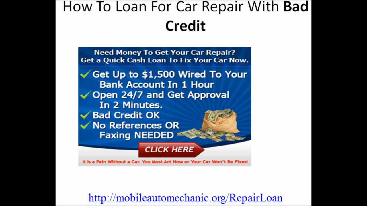 Auto Repair Loan No Credit Check Financing In Atlanta Georgia