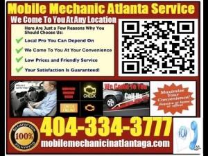 professional mobile Import or foreign Auto Repair Mechanic in Atlanta Georgia
